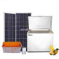 NRJSOLAIRE Kit Complet Réfrigérateur solaire 196L